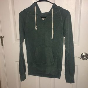Green v-neck hoodie (very comfy)